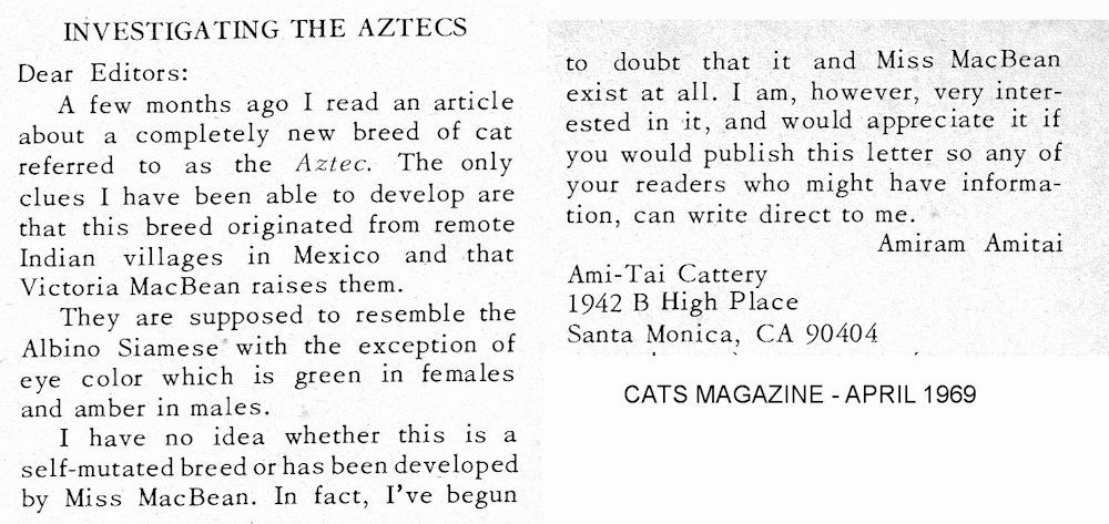Aztec breed from 1969