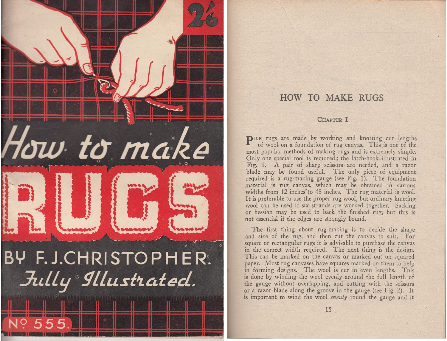 How To Make Rugs 1950
