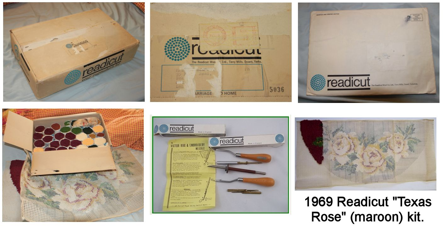 Readicut Maroon Texas Rose Kit The Envelope Contains Instructions Guarantee And Extra Order Forms