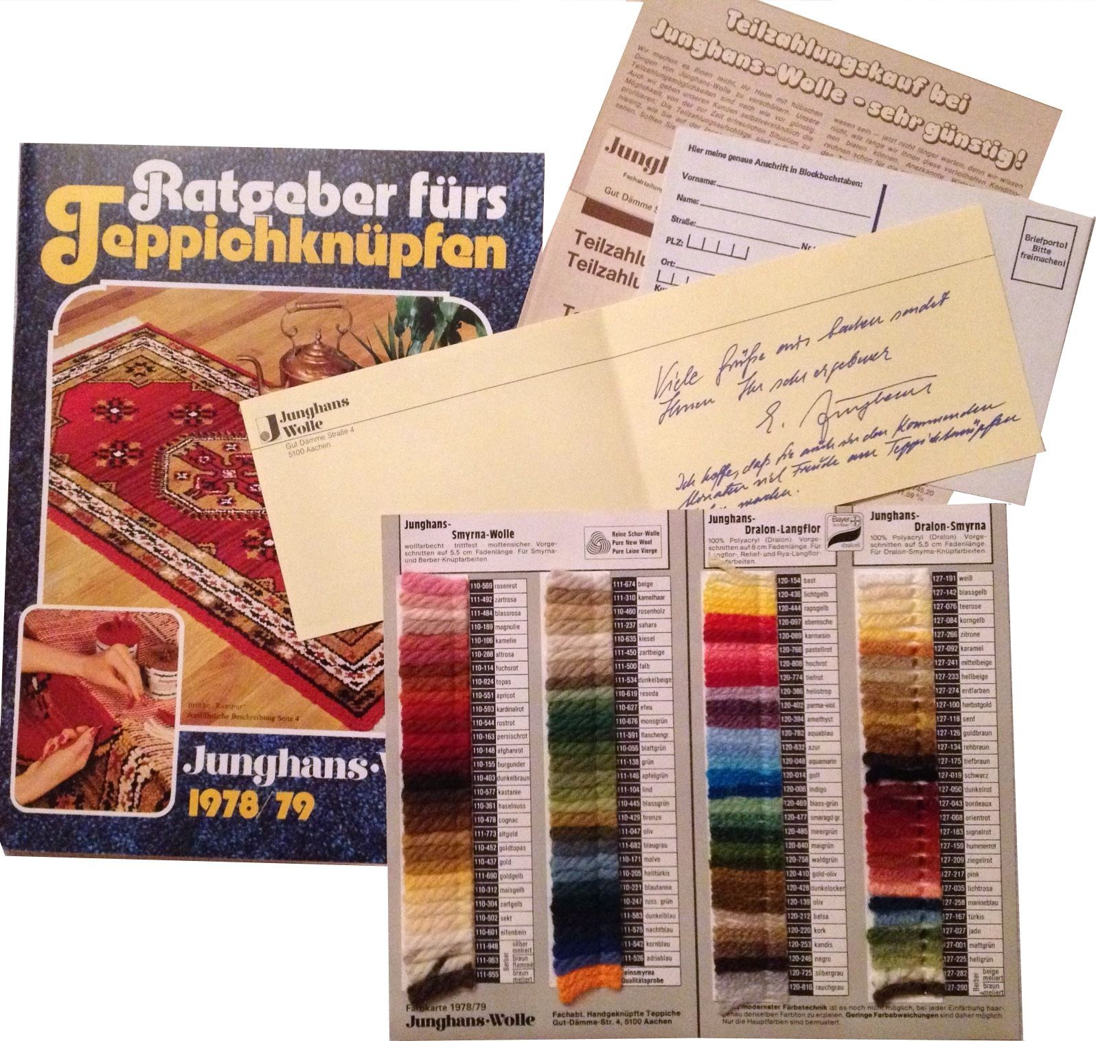RUGS - SUPPLIES (INCLUDING VINTAGE YARNS AND KITS)