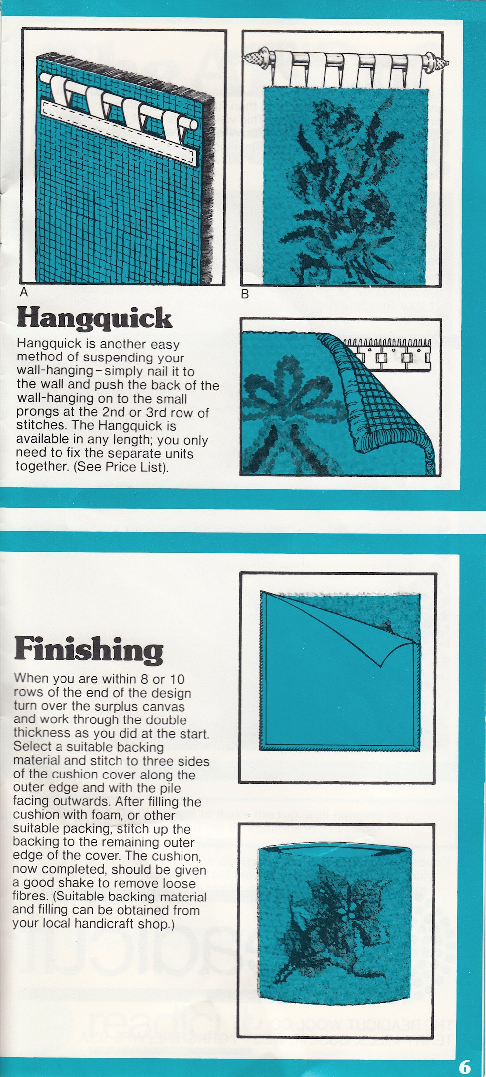 Rugs readicut instruction leaflet