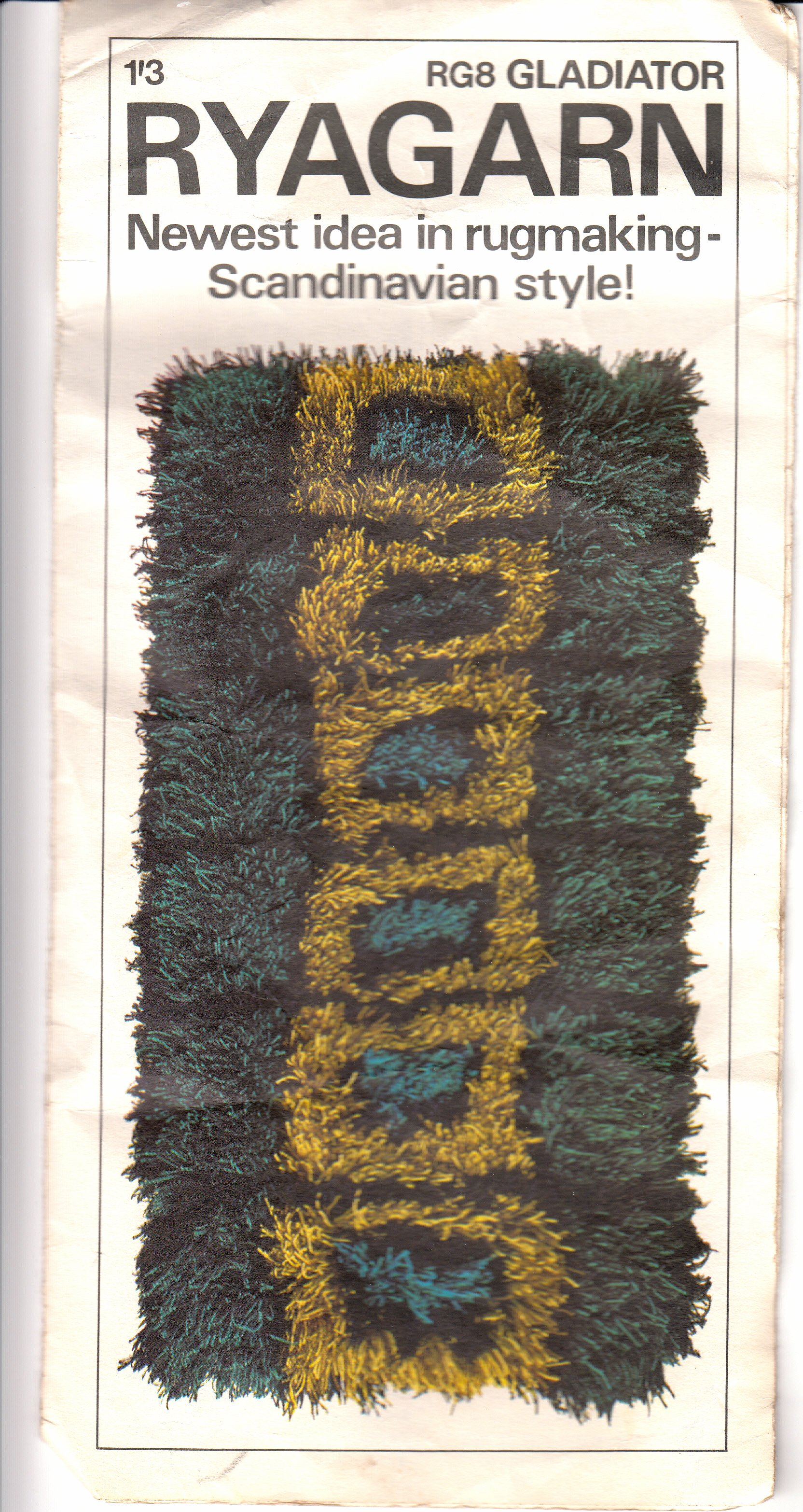 As Far I Can Tell Rya Was Their Only Foray Into The Home Rug Making Market