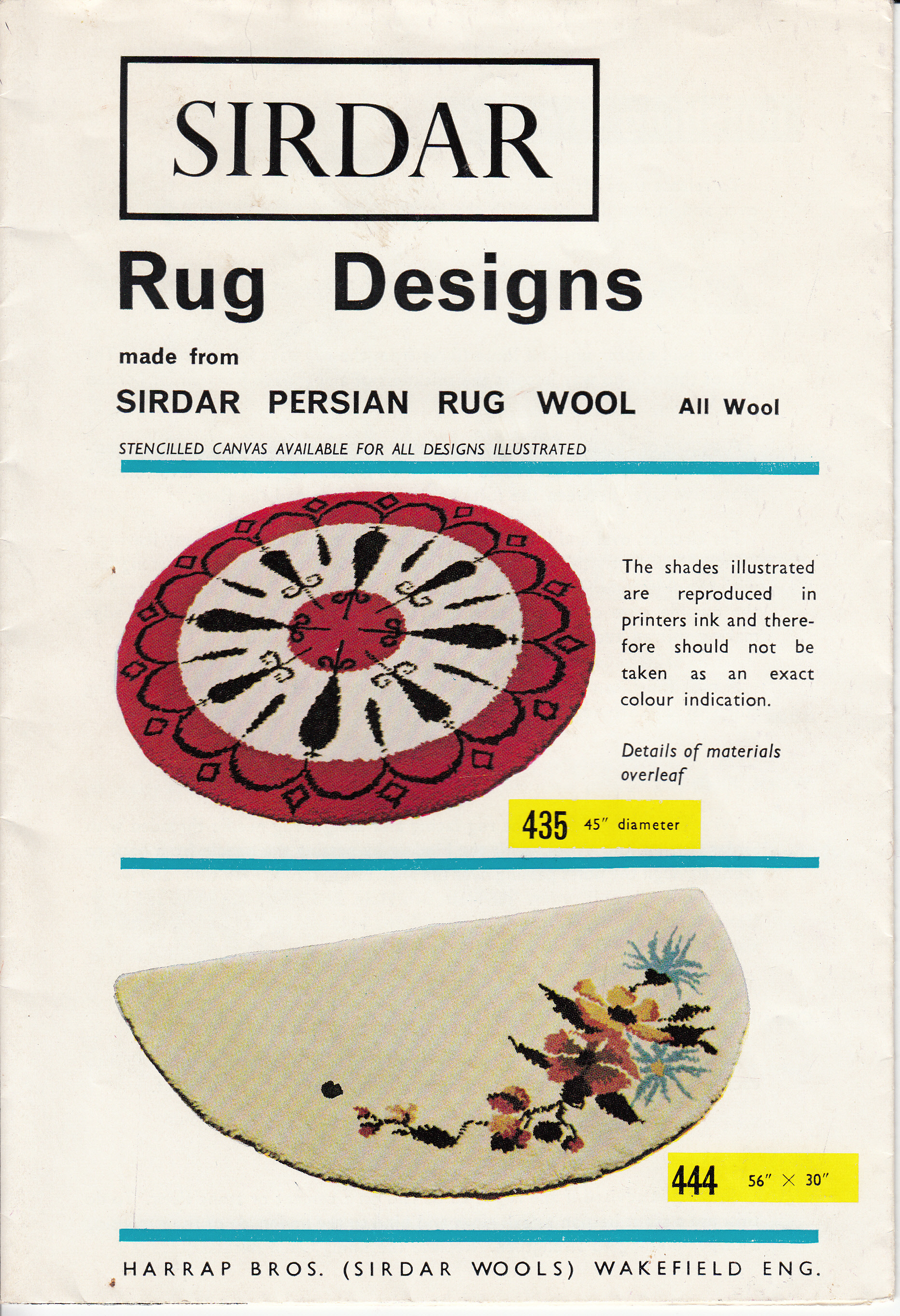 SIRDAR - MAKING A TUFTED RUG / RUG DESIGNS.