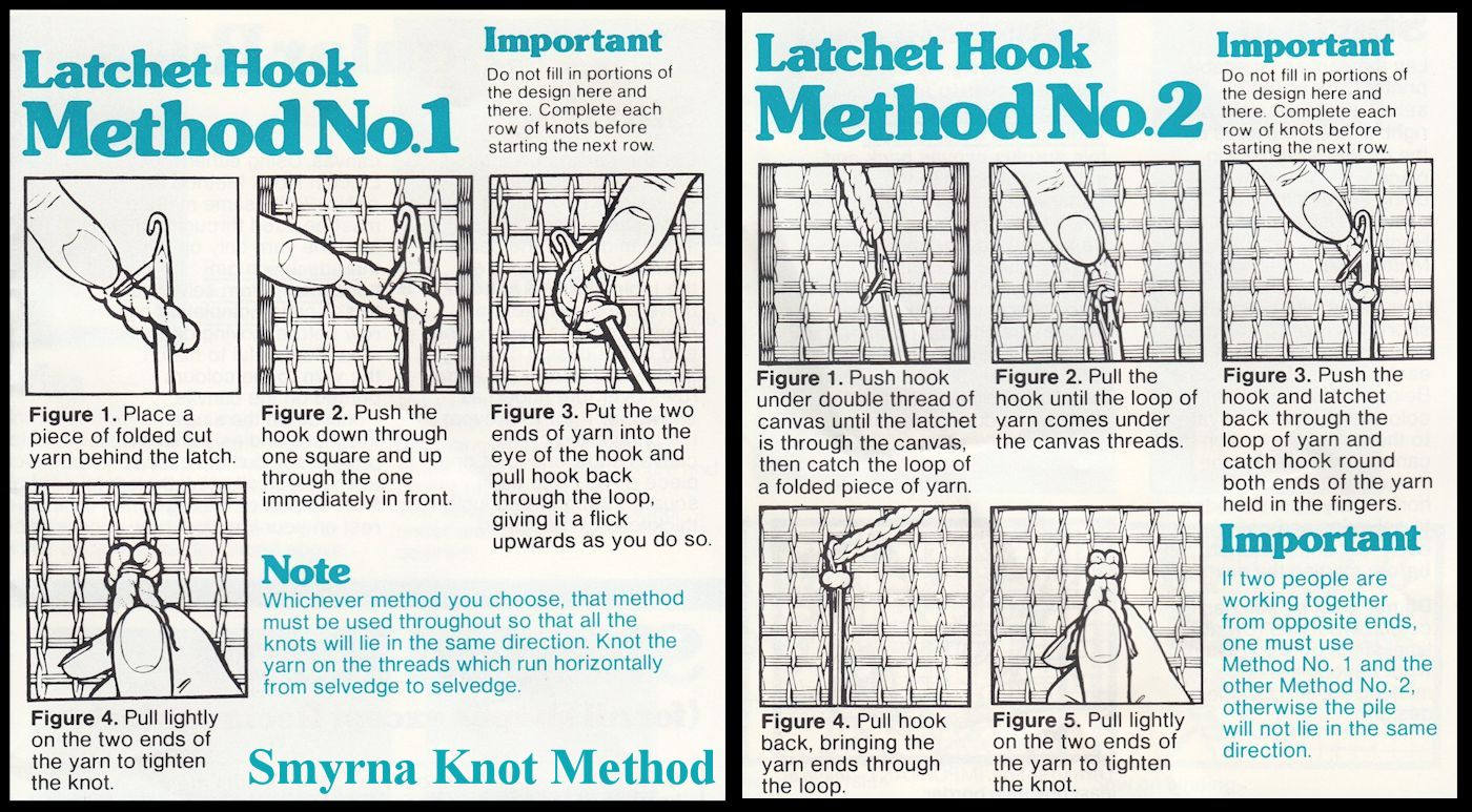 Rug Making History The Latch Hook
